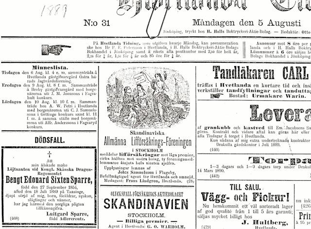 dödsannons 1889sixten