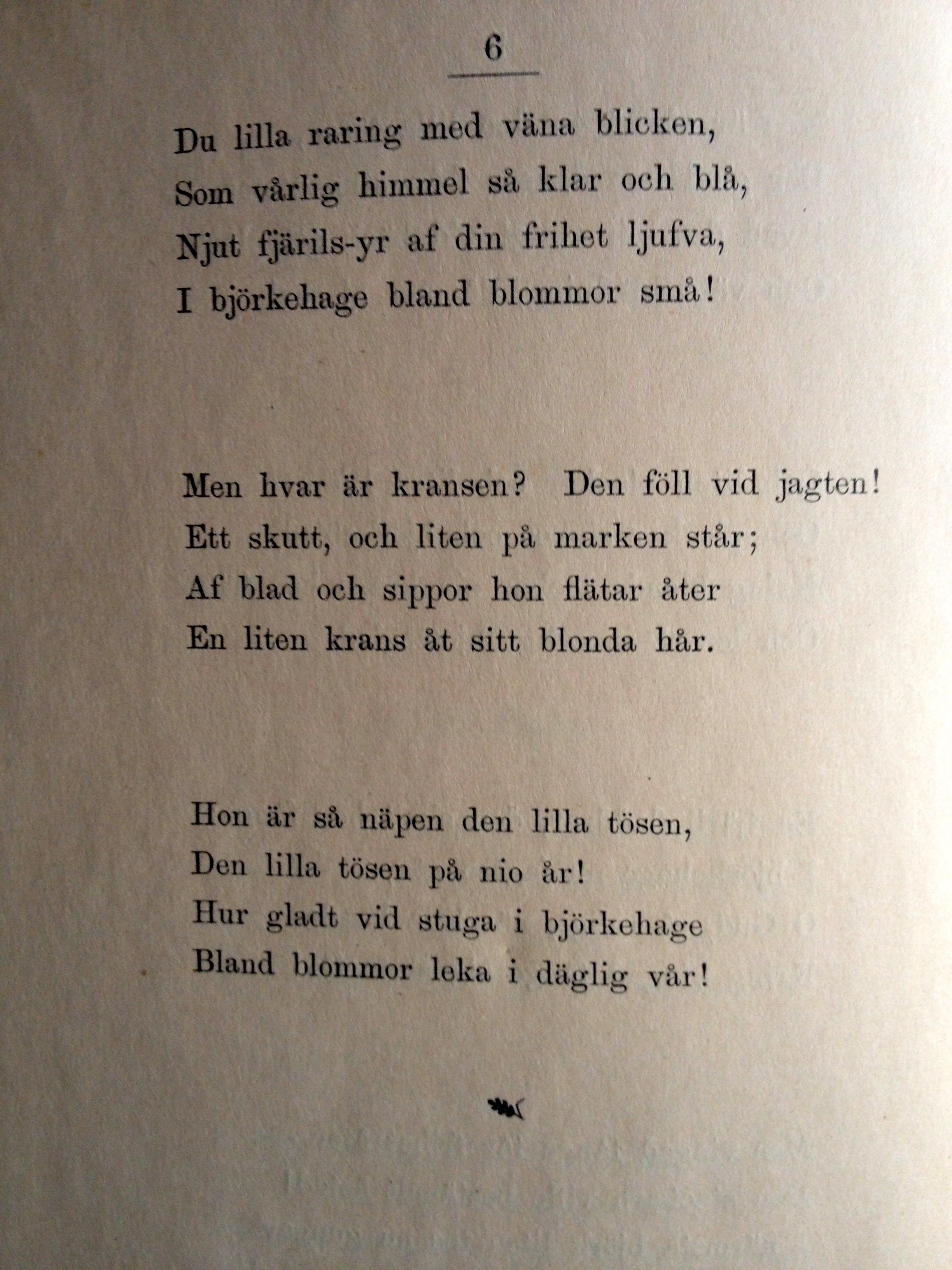 dikt dödsannons mormor
